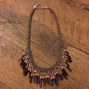Bora Fringe Stella & Dot rose gold necklace